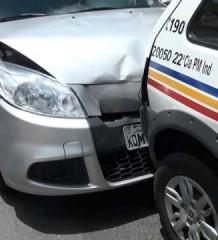 Obra sem fim na BR-116 causa transtornos aos motoristas e acidentes como o que envolveu até uma viatura da Polícia Militar