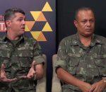 Subtenente Cesar e Sargento Costa falam sobre os trabalhos do tiro de Guerra 04/003