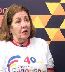 Ângela Fernandes Lage fala sobre os 40 anos da escola Pingo de gente.