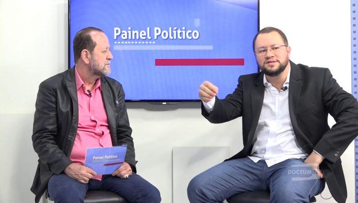Salatiel recebe o professor Eliézer de Freitas Ribeiro